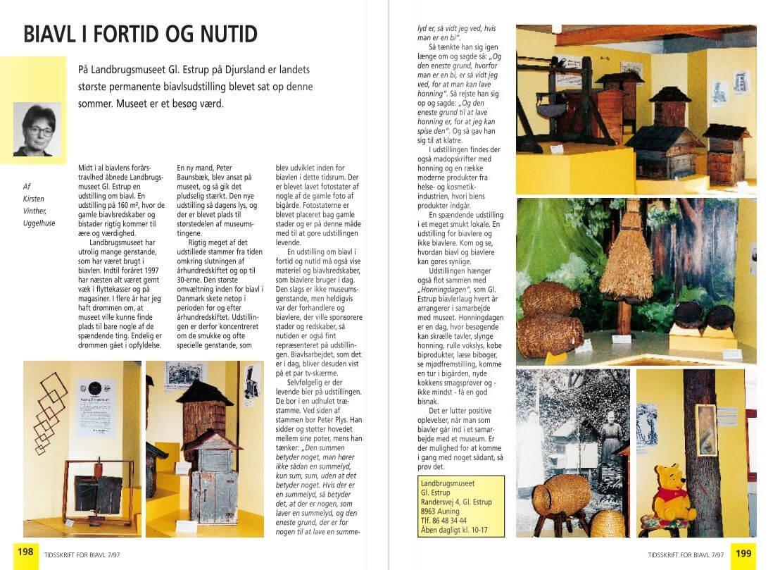 Biavl i fortid og nutid. Tidsskrift for Biavl 7/1997